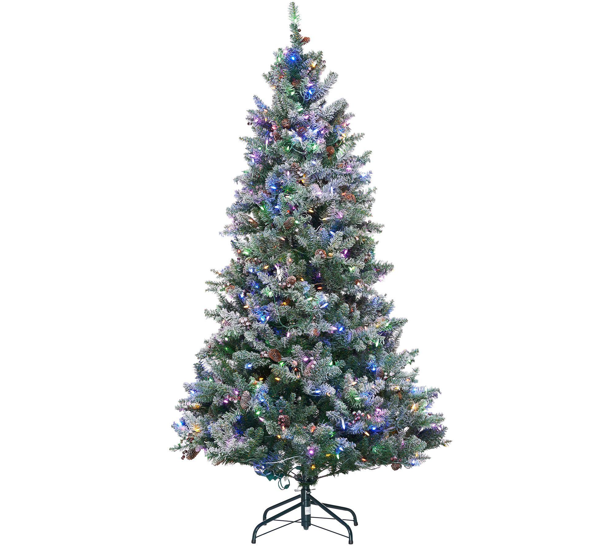 ED On Air Santa\'s Best 9\' Frosted Simon Tree by Ellen DeGeneres ...