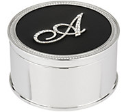 As Is Safekeeper Initial Jewelry Box w/Rope Trim by Lori Greiner - H211133