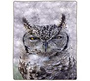 Lavish Home 74 x 91 Heavy Fleece Blanket withOwl - H303133