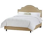 Linda Dano Linen Nail Button Notched CaliforniaKing Bed - H349933