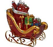 Kringle Express Indoor/Outdoor Lit Oversized Santas Sleigh with Presents - H211534