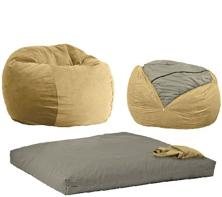 Superb Cordaroys Full Size Convertible Bean Bag Chair By Lori Greiner Qvc Com Alphanode Cool Chair Designs And Ideas Alphanodeonline