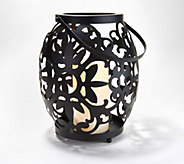 Wrought Iron Oversized Flameless Candle Lantern by Valerie - H215034