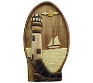 Handcrafted Hardwood Beach & Sea Life Storage Puzzle Box - H285534
