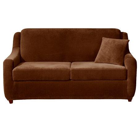 Sure Fit Strech Pearson 3 Piece Full Sleeper Sofa Slipcover H — QVC