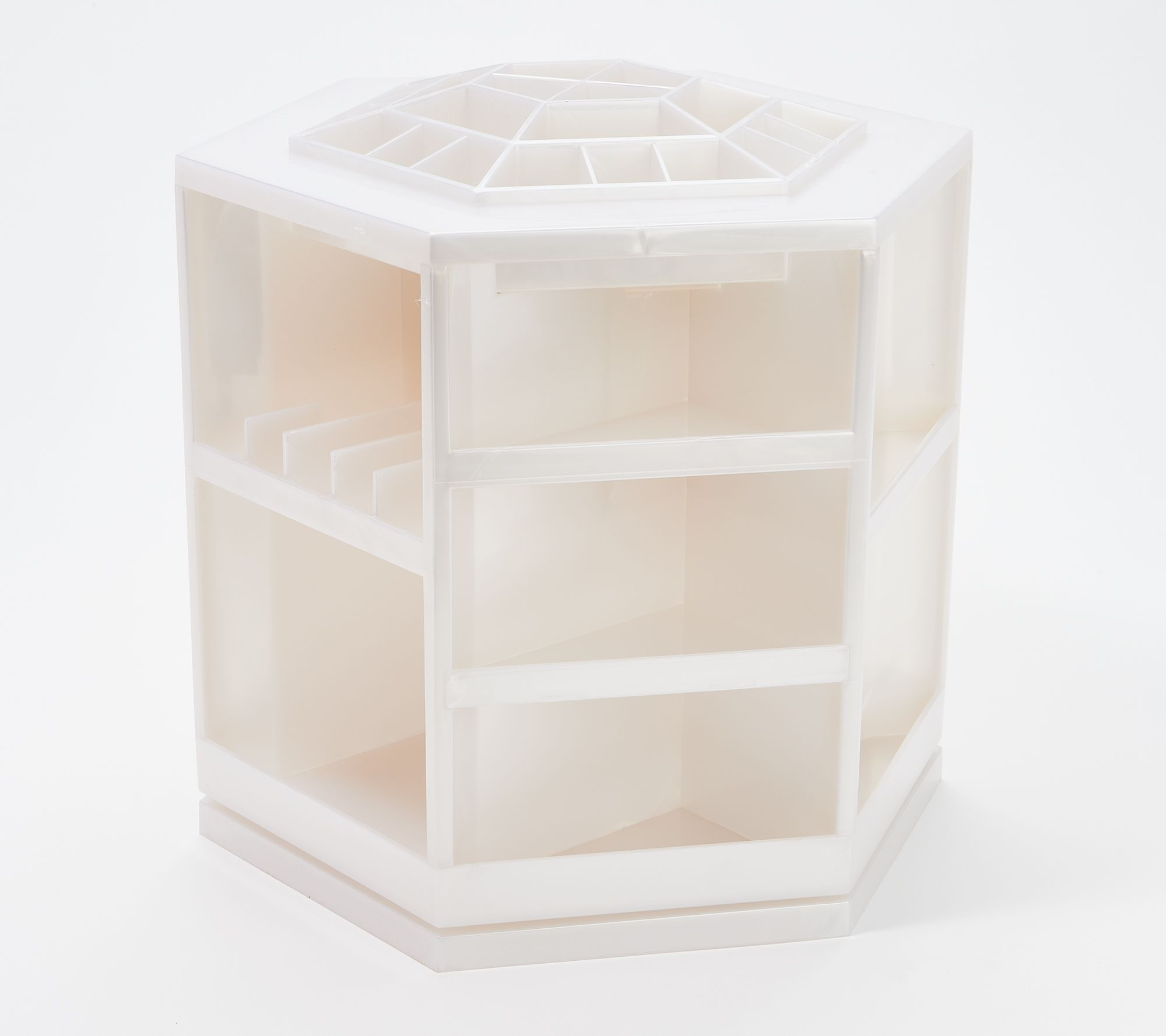 tabletop spinning cosmetic organizer by lori greiner page 1 qvc com