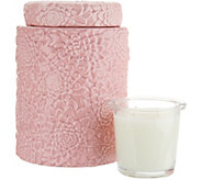 HomeWorx by Harry Slatkin Floral Canister with 12-oz Drop-in Candle - H213635