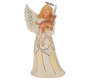 Jim Shore Woodland Collection Angel with DogFigurine