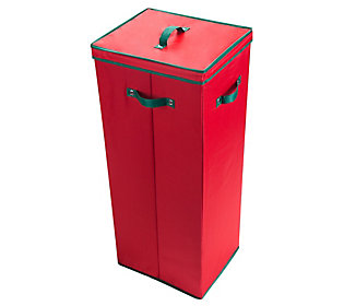Elf Stor Red Wrapping Paper Storage Box