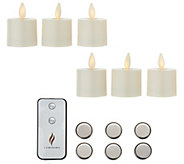 Luminara Set of 6 Tealights with Additional Batteries - H213236