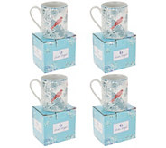 Darbie Angell 4-Piece Birds Of a Feather Porcelain Mug Set - H217236