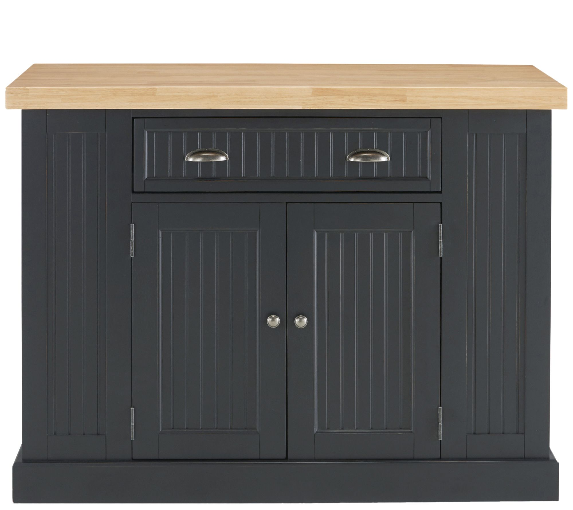 Home Styles Nantucket Solid Wood Top Kitchen Island — QVC.com