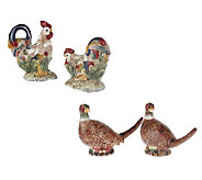 4 -piece Rooster and Pheasant Salt&PepperSet by Valerie - H10637