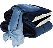 London Fog Twin Supreme Velvet Comforter w/ 50x60 Throw - H210137