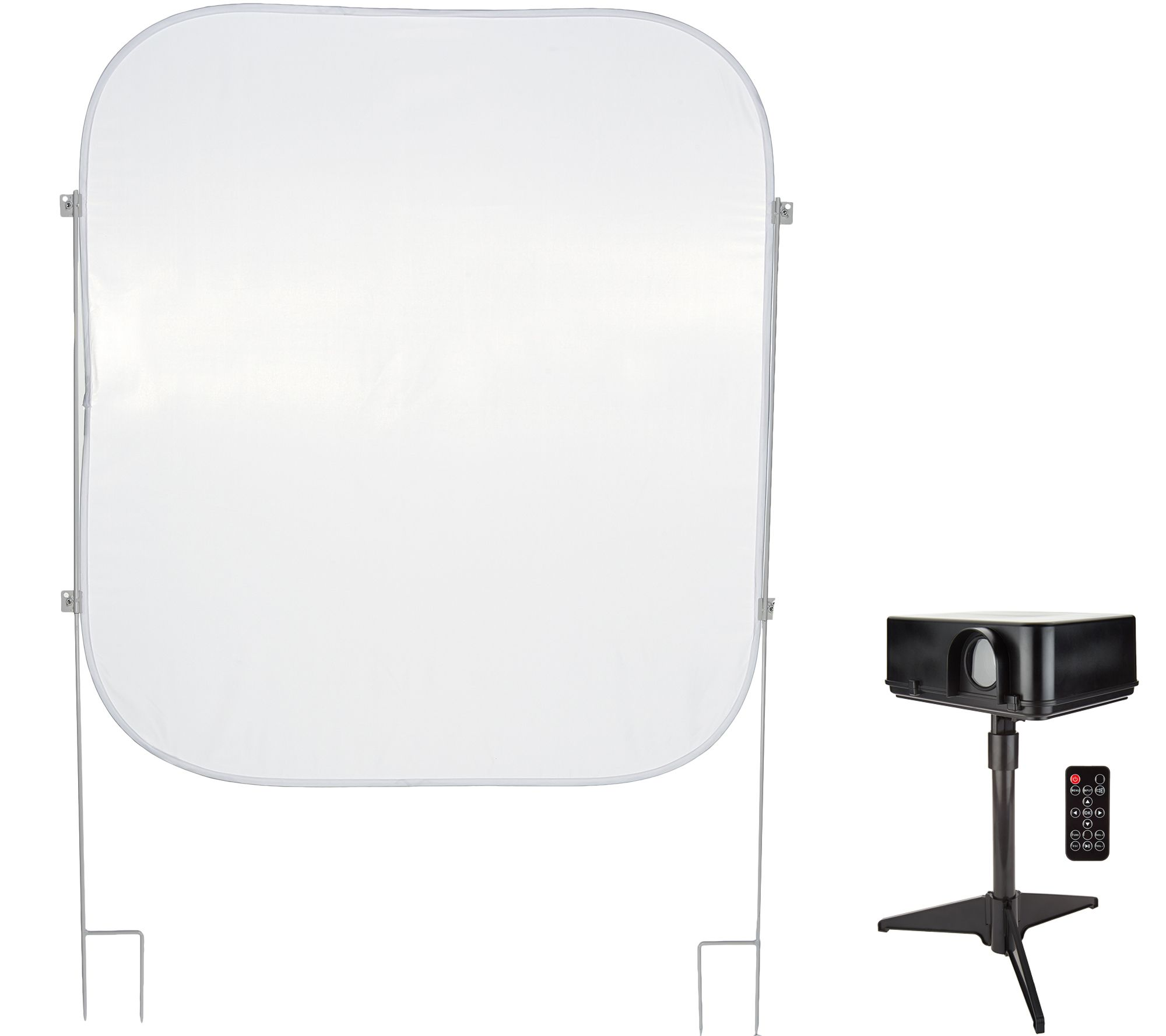 Mr Christmas Projector.Mr Christmas Indoor Outdoor Virtual Projector With Pop Up Screen Qvc Com