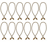 Haute Decor Set of 12 20 Decorative Twist Ties with Hidden Wire - H213137