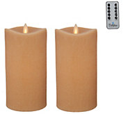 Bethlehem Lights Set of 2 7 Moving Flame Touch Candle w/Remote - H213937