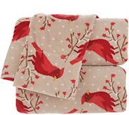 Malden Mills Polarfleece Holiday Printed Queen Sheet Set - H215837