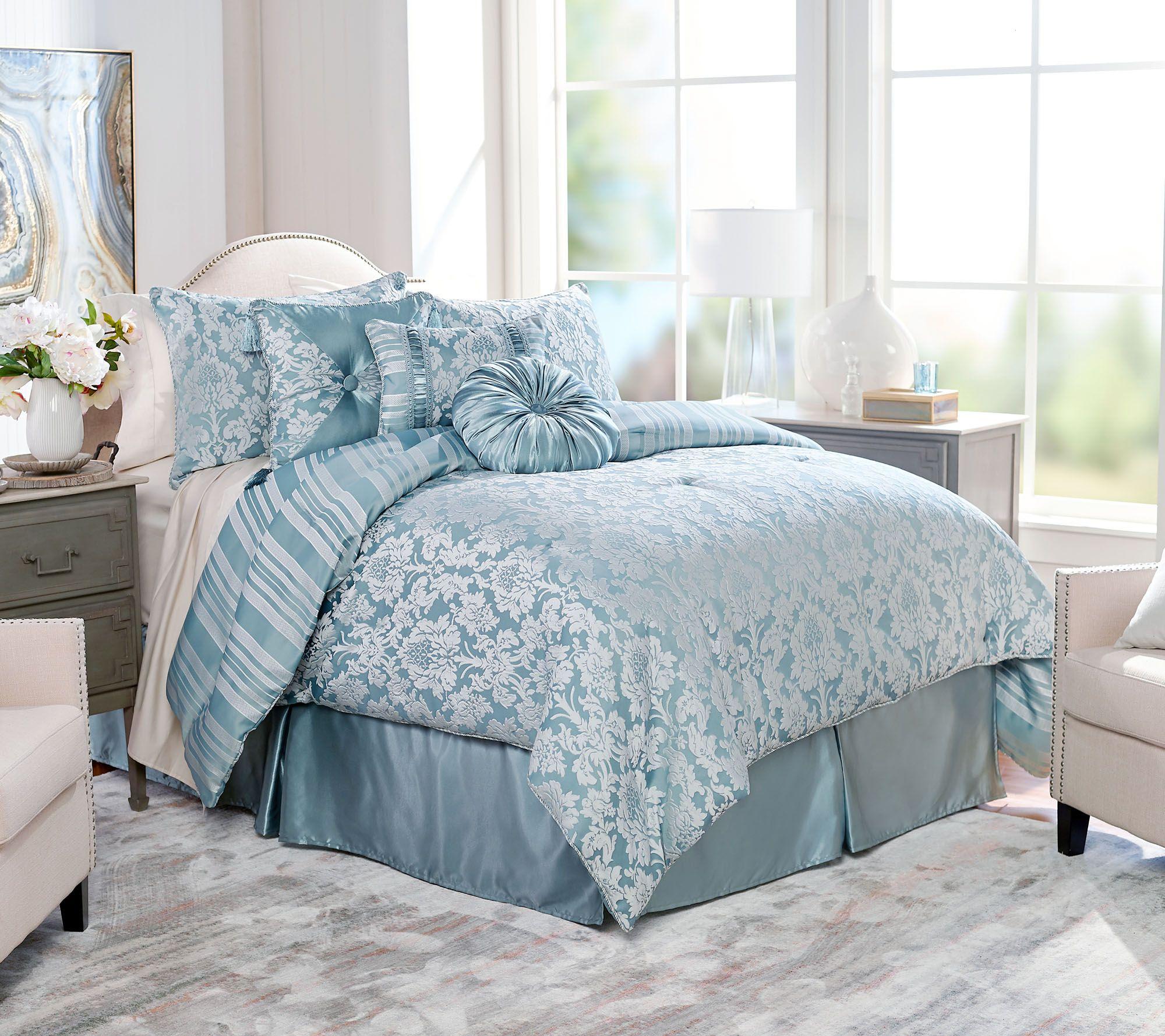 Northern Nights Jacquard Reversible 7-Piece King Comforter Set — QVC.com