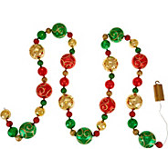 As Is Kringle Express 9 Oversized Ornament Light Strand - H214138