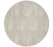 Inspire Me! Home Decor 53 Round Feather Print Rug - H217338