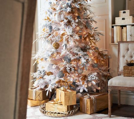 Bethlehem Lights_6.5' White Spruce Christmas Tree w/Instant Power — QVC.com