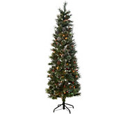 7 Glistening Pine Incandescent Slim Tree by Valerie - H212739
