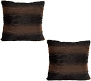 Dennis Basso Set of 2 18 x 18 Faux Fur Pillows - H213139