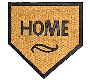 Geo Crafts Flat WeaveTuffcor Home Plate Door Mat - H283839