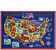 Smithsonian USA Map 53 x 75 Area Rug - H301739