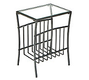 Iron and Glass Magazine Table - H155640