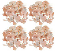 Set of 4 Glistening Hydrangea Clips by Valerie - H212540