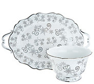 As Is Temp-tations Christmas Eve or Winter Tray & Bowl Set - H215240