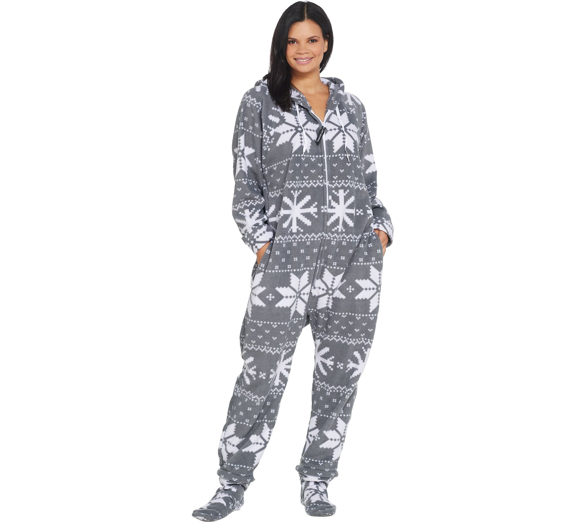 d7ed4616b050 Forever Lazy Fleece Adult Onesie with Pocket