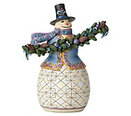 Jim Shore Heartwood Creek Snowman with Evergreen Bough - H216940