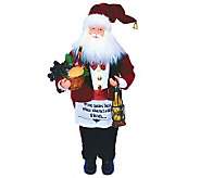 18 Wine Steward Santa by Santas Workshop - H281340