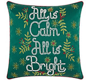 Kathy Ireland All is Calm Green 18 x 18 Throw Pillow - H301640