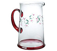 Pfaltzgraff Winterberry Glass Water Pitcher, 2.5 qt - H363340