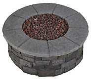 Real Flame Sedona Round Fire Table w/ Nat Conversion Kit - H370440