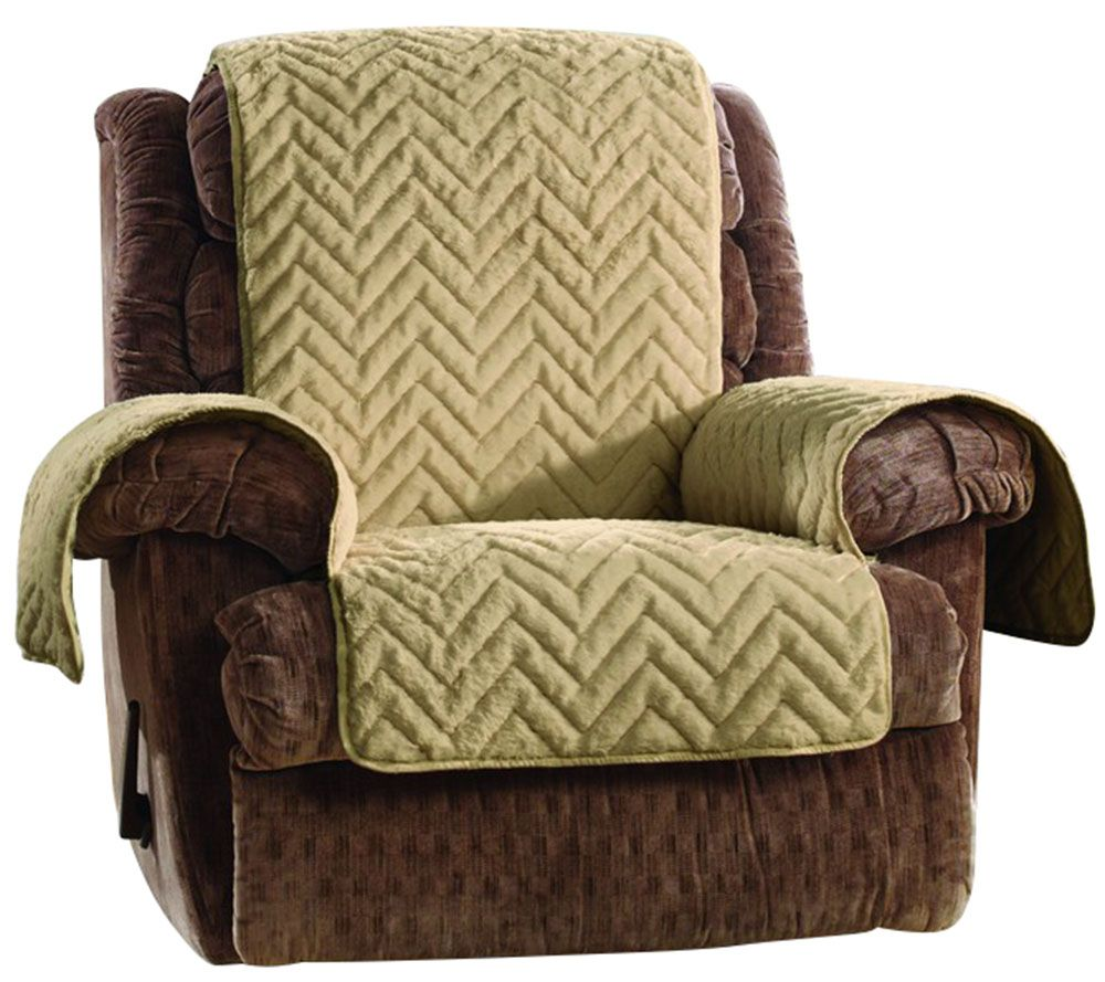 Superbe Sure Fit Sheared Faux Fur Recliner Furniture Cover   Page 1 U2014 QVC.com