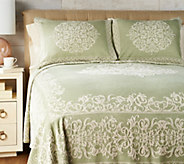 Amadeus 100Cotton Scroll Pattern Bedspread with Sham(s) - H213141