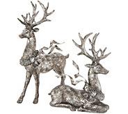 Set of 2 Deer w/ Flowing Ribbon by Valerie - H216341