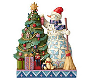 Jim Shore Heartwood Creek Double Sided Snowman with Christmas Tree - H216941