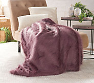 Dennis Basso 50 x 60 Luxe Faux Feather Fox Fur Throw - H217341