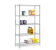 Honey-Can-Do Five-Tier Chrome Storage Shelves -800 lbs - H184042