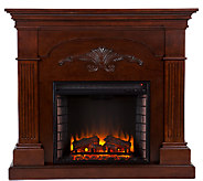 Grand Bruton Mahogany Finish Electric Fireplace - H185742