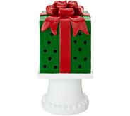 Kringle Express 10 Illuminated Pierced Holiday Present on Pedestal - H213342