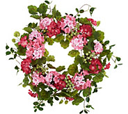 22 Geranium and Berries Wreath by Valerie - H213542