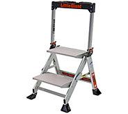 Little Giant Lightweight 2 Step Jumbo AluminumStep Ladder - H295042