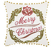 Kathy Ireland Wreath White 16 x 16 Throw Pillow - H301642